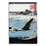 Whale Hunting at the Island of Goto肥前日本語で木材カット印刷 12 x 18 Metal Sign LANT-21648-12x18M