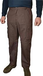 Homme 100% Coton Pantalon Shorts Cargo Convertible