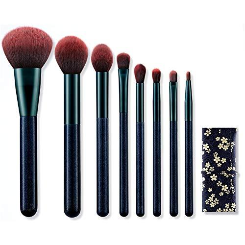 ZXIAOMEI Pinceau de maquillage Convient à la Fondation Correcteur Ombre à paupières Eyeliner fard à joues Paquet de 10 avec le sac cosmétique