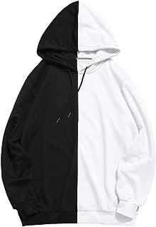 half red half black hoodie