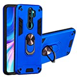 Grandcaser Redmi Note 8 Pro Étui,Ultra Mince Hybride Double Action Militaire Anti Grand Support...