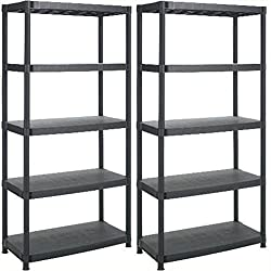 plastic racking is easy to assemble with no nuts or bolts and can be put up and taken down in seconds The racking is made from robust, heavy duty plastic which is non-rusting and easy to clean The shelves are able to carry an impressive 20kg UDL each...