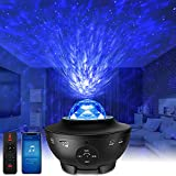 Star Projector Galaxy Starry Night Light with Bluetooth Speaker, Ocean Wave Projector with Music, Nebula Cloud Ceiling Lamp for Baby Kids Adults/Bedroom/ Decoration/Birthday/Party