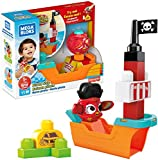 Mega Bloks Peek A Blocks Pirate Ship, Building Toys for Toddlers (11 Pieces)