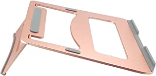 Folding Laptop Stand, Metal Desktop Height Computer Cooling Rack Portable Compatible Within 16 Inches (Color : Pink)