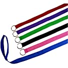 """6 Foot Slip Lead, Slip Leads, Kennel Leads with O Ring for Dog Pet Animal Control Grooming, Shelter, Rescues, Vet, Veterinarian, Doggy Daycare (Size: 6' x 1"""", Colors: Various)"""