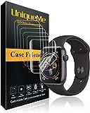 UniqueMe Schutzfolie Kompatibel mit Apple Watch 44mm Series 5/4 [5 Pack] [Blasenfreie] HD Clear Flexible Folie mit Lebenslange ersatz garantie