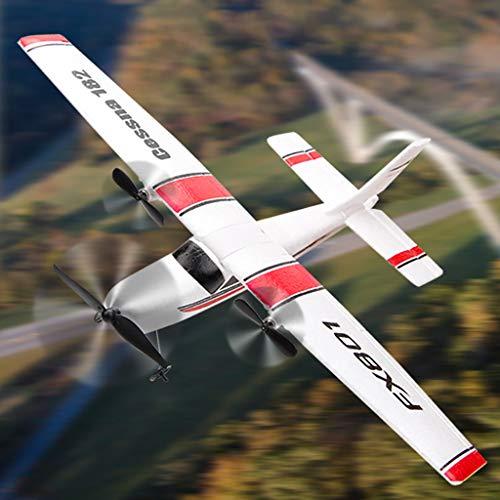 Segelflugzeug, LeeMon Doppeldecker Flugzeuge Modellflugzeug DIY Drohne FX-801 2.4G Funksteuerung 2CH RC Flugzeug Drone Glider Outdoor Spielzeug (AS Show)