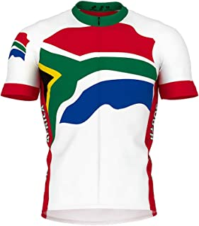 South Africa Flag Short Sleeve Cycling Jersey for Women