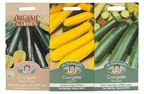TOMHY Graines Paquet: 2: Mr Fothergills Graines Courgette légumes Collection de semences