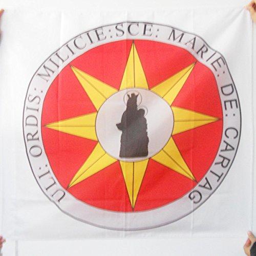 AZ FLAG Bandera de la Orden DE Santa MARÍA DE ESPAÑA 90x90cm para Palo - Bandera Ejercito DE Francia 90 x 90 cm: Amazon.es: Jardín