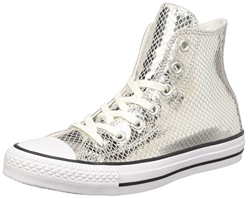 Converse Damen Ctas Hi Sneakers, Silber (Silver/Black/White), 36 EU