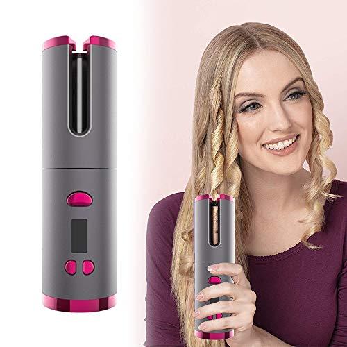 Mini draadloze krultang, automatische krultang, met 5000 mAh accu, warmte-isolatiekamer, lcd-scherm, temperatuurregeling en timer-instellingen