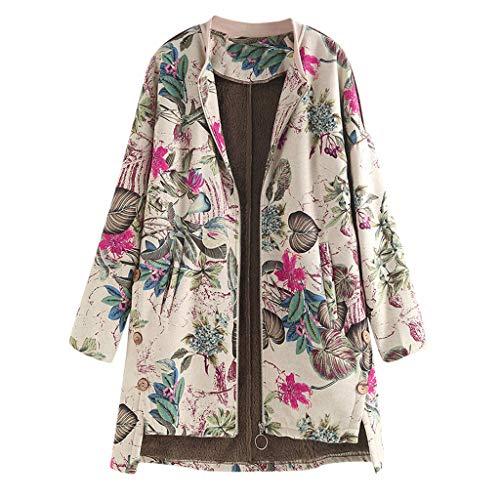 Da Donna Floreale con Rose Stampa Bomber Donna Cerniera Casual Cappotti Plus Size 8-22