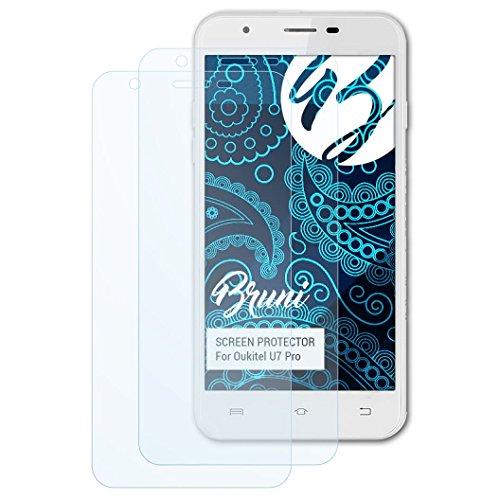 Bruni Schutzfolie kompatibel mit Oukitel U7 Pro Folie, glasklare Bildschirmschutzfolie (2X)