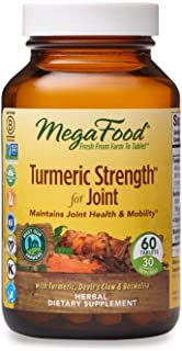 MegaFood, Turmeric Strength for Joint, Maintains Joint Health and Mobility, Vitamin and Herbal Dietary Supplement, Gluten ...