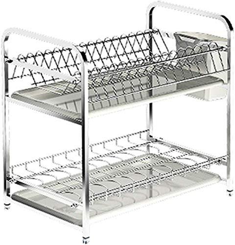 ZRB Dish Drying Rack, 304 stainless steel kitchen racks drain storage spoon rack,Drainer Shelf