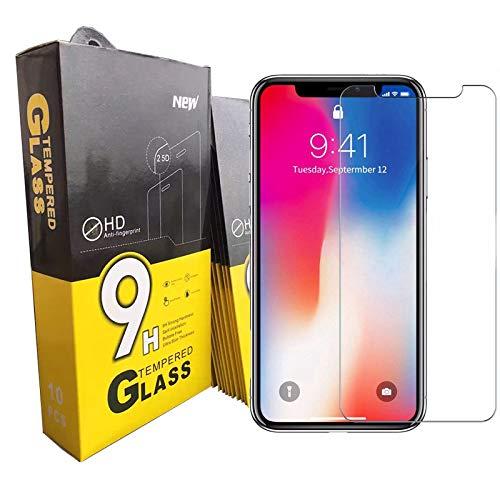 Displayschutzfolie für iPhone 9H, 2.5D gehärtetes Glas Displayschutzfolie [Anti-Kratzer, Anti-Fingerabdruck, hüllenfreundlich, 3D Curved] (iPhone SE 2020)