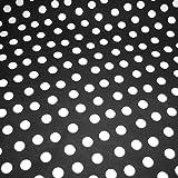 Stoff am Stück Stoff Baumwolle Punkte groß schwarz weiß