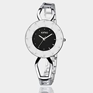Watch Fashion Creative Case/Life Waterproof Design/High Quality Alloy Strap, Fashion Watch (Color : Black)