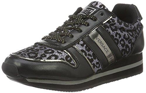 Versace Jeans Damen Ee0Vobsb1 Sportschuhe, Schwarz (Nero/Glitterato), 38 EU