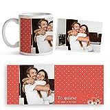 Fotoprix Taza para Parejas Personalizada con Foto y Texto | Regalo Día de los Enamorados | San...