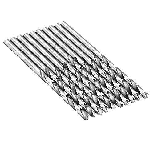10Pcs Drill Bit Hss High Speed Steel Straight Shank Twist Drill Bit For Hand Twist Drill 2.2-4.0Mm (Size : A)