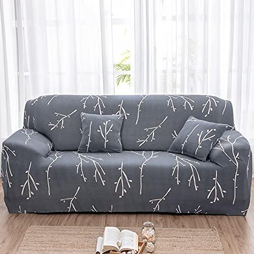 WXQY Juego de Funda de sofá elástica, Funda de sofá Antideslizante Todo Incluido. Sala de Estar Funda de sofá de combinación de Esquina en Forma de L A16 2 plazas