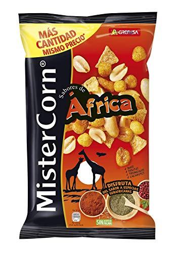 Grefusa - MisterCorn Africa | Cocktail de Frutos Secos con Sabor a Especias Surafricanas - 195 gr
