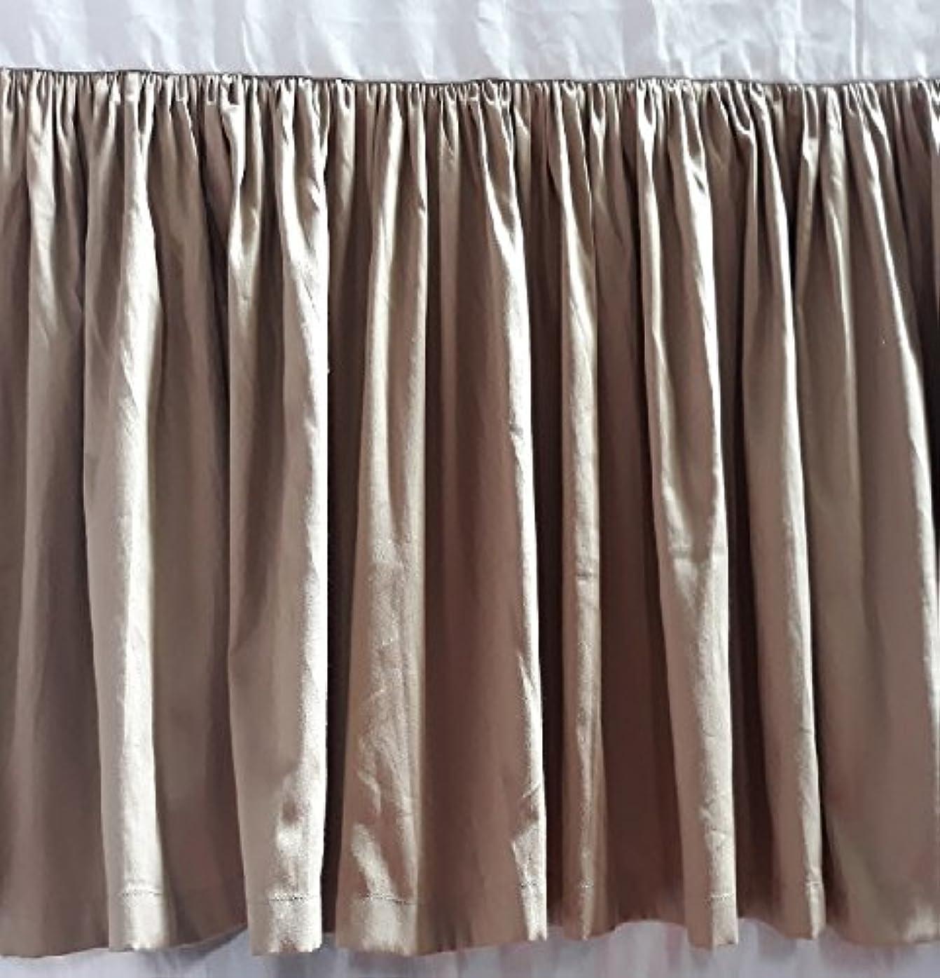 クレーター失望させる沼地分割コーナー用フリル付きベッドスカートSolid Taupe 100?%エジプト綿キング( 78?