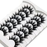 Losha False Lashes Natural Look Wispy Faux Mink Eyelashes Resuable Lightweight False Eyelashes 7 Pairs Pack Everyday Lashes