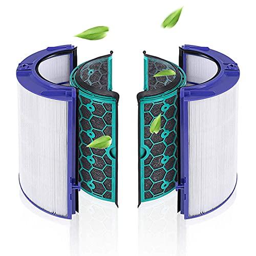 Bamboost Ersatzteile HEPA Filter Kompatibel mit Dyson HP04 TP04 DP04 TP05 HP05 Pure Cool Luftreiniger Lüfter und Innerer Aktivkohlefilter-360° Filtersystem