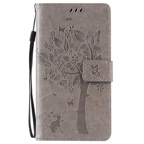 Nancen Compatible with Handyhülle Galaxy Note 4 / SM-N9100 Flip Schutzhülle Zubehör Lederhülle mit Silikon Back Cover PU Leder Handytasche
