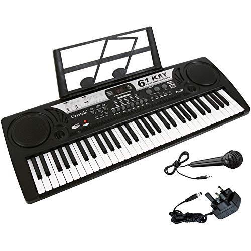 Electronic Keyboard 61 Keys MP3 Musical Instrument Digital Piano + Mic + UK...
