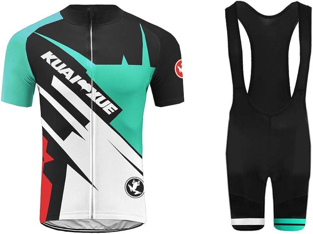 Uglyfrog Sommer Kurzarmtrikot Herren Radtrikot Radsport-Tr/ägerhoseSet Fahrrad Trikot Kurzarm und Radhose mit Sitzpolster XTNL02