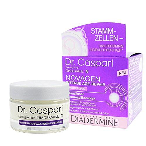 Diadermine NovagenNachtpflege Intensives Age-Repair Creme mit Pflanzlichem StammzellenkomplexKollagenHyaluronsäure und Fibronectin, 50ml