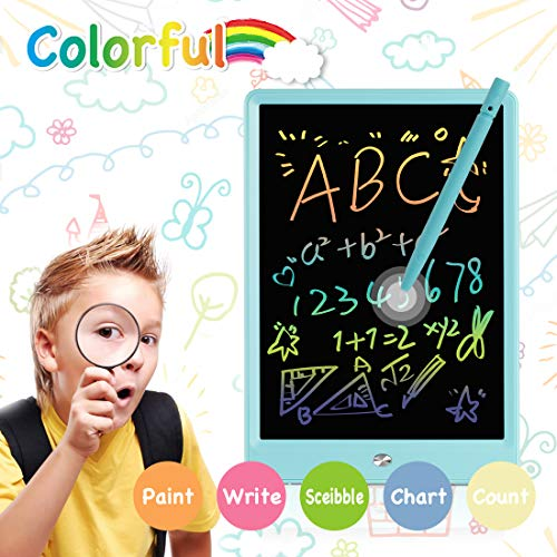 Electronic Graphics Tablet Creative 11 Inch Macaron Color Writing Tablet Teach Childrens Drawing Board LCD Screen Writing Board for Kids and Adults for Home School,Office