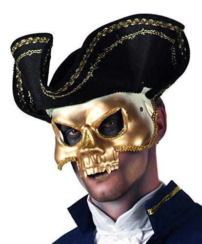Máscara de pirata estilo Venecia.
