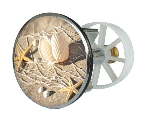 Waschbeckenstöpsel Design Strandperle , Abfluss-Stopfen aus Metall , Excenterstopfen , Abflussstöpsel , 38 – 40 mm , Stöpsel