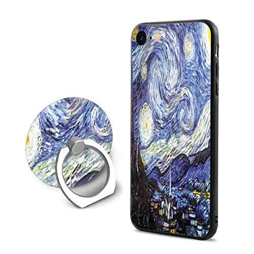 Danny-shop Nextation Famous PaintingsprintiCustodia per Cellulare iPhone 7/8 con Staffa ad Anello Materiale TPU + PC Protezione dagli impatti