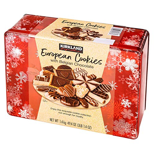 LIMITED EDITITON - Kirkland Signature European Cookies with Belgian Chocolate, 49.4 Ounce