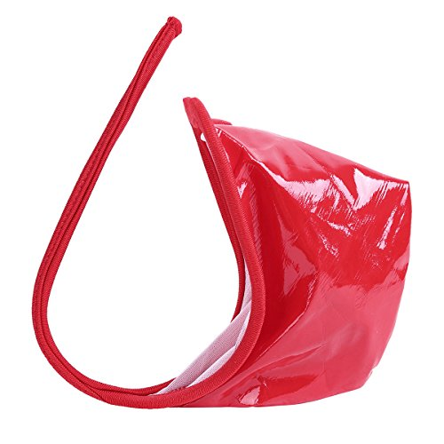iEFiEL C-String für Herren Männer String Tanga Micro Mini Bikini Slip Unterwäsche Wetlook schwarz Shorts Dessous Rot One Size