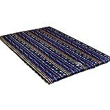 SSN Estilo étnico Tela al Aire colchón Inflable, Inflable automático Grueso colchón, se Puede empalmar a Prueba de Humedad del cojín, 193x120x5cm (Color : Azul)