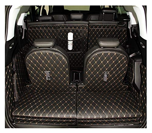 Special Trunk Mats Fit for Peugeot 5008 2017 Waterproof Boot Carpets Cargo Liner (Color Name : Black with Beige)