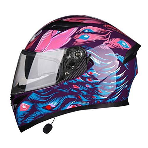Casco Moto Integral Modular,Casco Motocicleta Bluetooth con Visera Solar Doble,Adecuado Para Hombres Y Mujeres Cuatro Estaciones ECE Homologado Altavoz Incorporado Casco A,XXXL=63~64cm