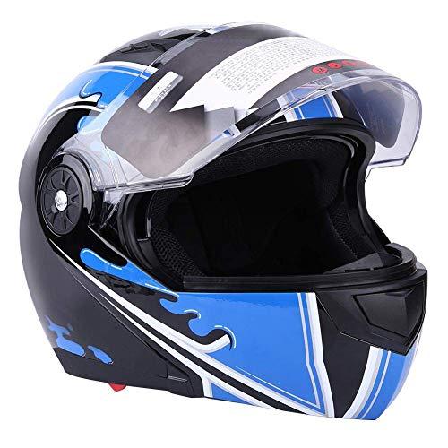 Estink Casco Moto Integral, Casco Protector de Motocicleta con 2 Viseras Casco...
