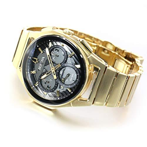Bulova Männer Analog Quarz Uhr mit Edelstahl Armband 97A144