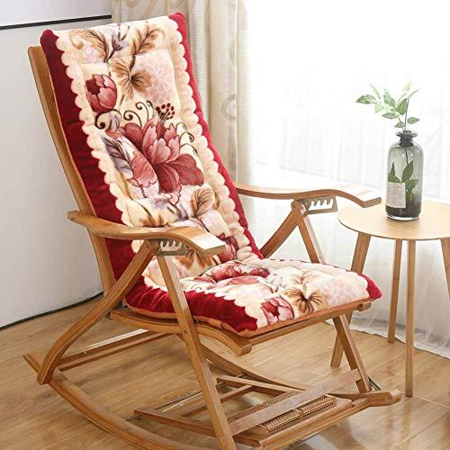 JY&WIN Cojín de Franela para sillón, cojín Grueso para Asiento Plegable Cojín de ratán de Felpa para Silla Mecedora Cojín para Ventana de bahía Cojín Largo para Silla-E 48x120cm (19x47inch)