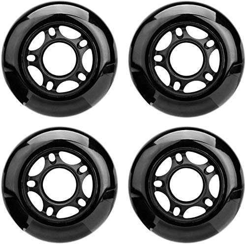 NONMON 4Pcs Ruote Rotelle Pattini in Linea Roller,72mm 85A Ricambio Inline Skates Wheels,per Pattinaggio Ricreativo Interno e All'aperto