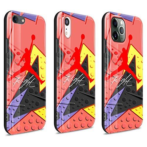 Oyihfvs Funda iPhone 7 Plus Case/Funda iPhone 8 Plus Case Purple Clouds In Winter Bright Streamer Soft TPU Phone Cases P-0016